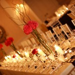 Old Warson Country Club interior with Fleurish Pink Centerpieces